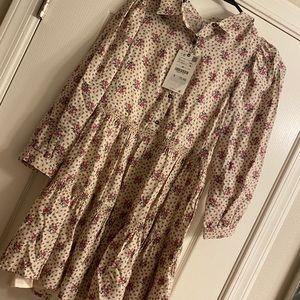 Zara Kids Floral Shirt Dress